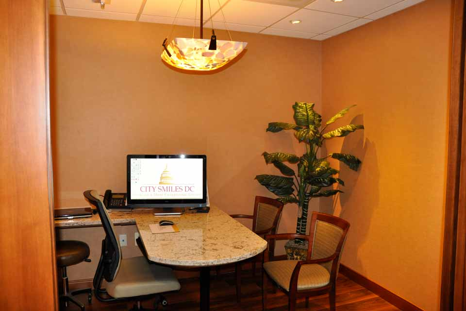 Consultation room at City Smiles DC