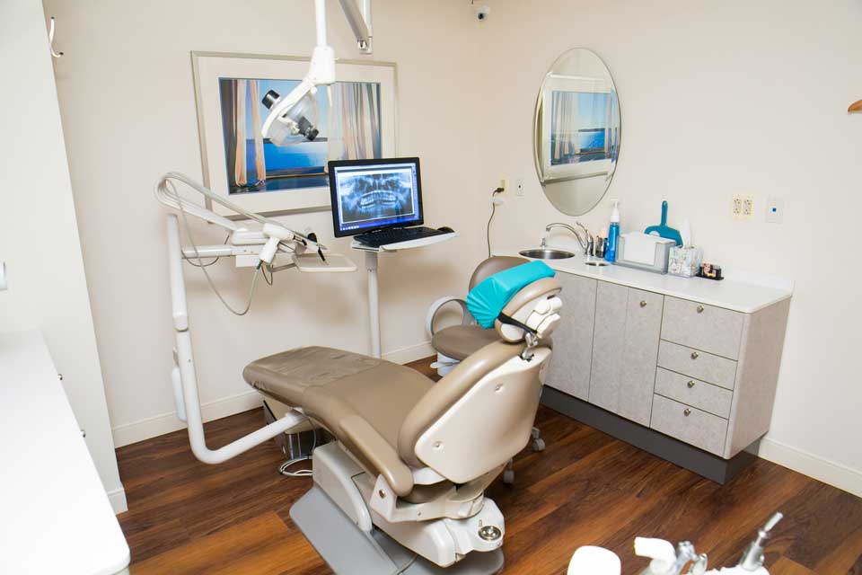 Dental exam room at City Smiles DC