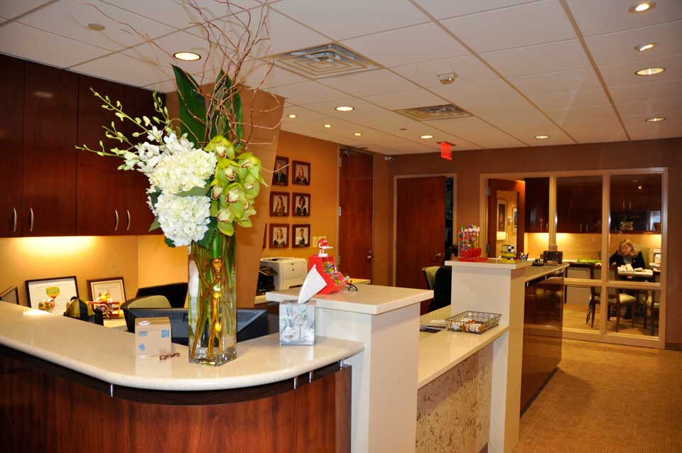 Reception area at City Smiles DC